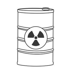 toxic waste contamination icon vector image