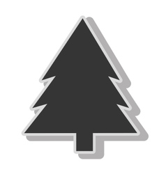 Tree pine natural icon design vector
