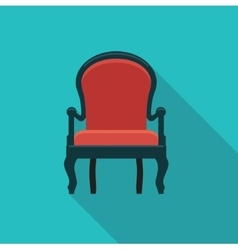 Antique chair icon vector