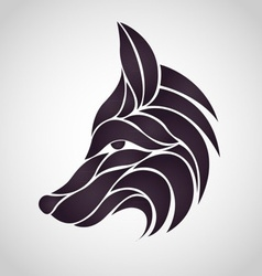 Abstract fox logo vector