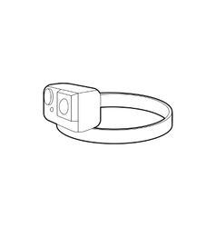 Action camera for head icon outline style vector