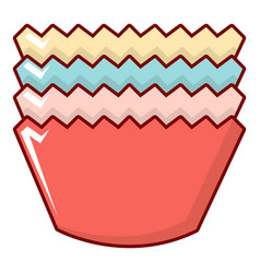 Baking molds icon cartoon style vector
