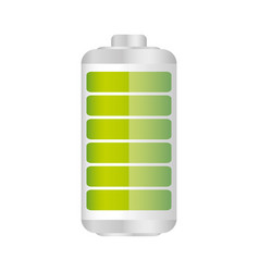Battery in fifty percent icon vector