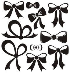 Black bows vector