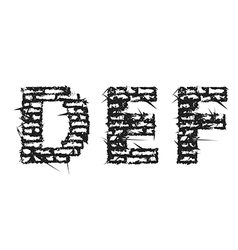 Black empty decorative aggressive brick style font vector