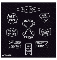 Black friday vintage signs vector image