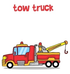 Cartoon tow truck art vector