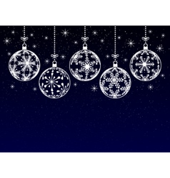 christmas or new year or winter background vector image vector image