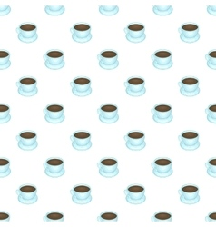 Coffee cup pattern cartoon style vector image