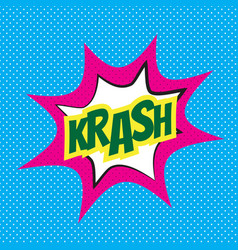 comic speech bubble krash vector image