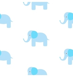 Cute elephant seamless pattern vector