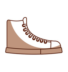 cute shadow boot cartoon vector image vector image