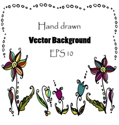 Doodle flower background vector