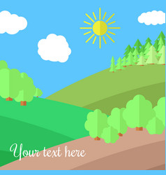Edge of the forest vector
