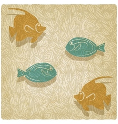 fish old background vector image vector image