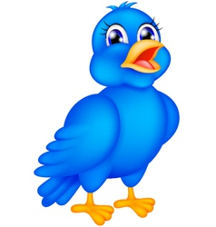happy blue bird vector image