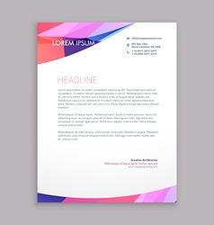 multicolor letterhead design vector image
