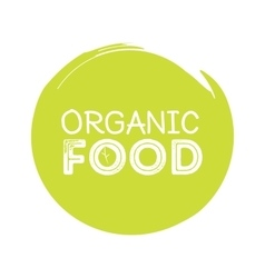 organic food rubber stamp vector image