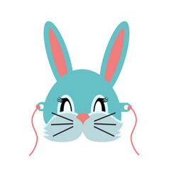 rabbit animal carnival grey small bunny hare vector image