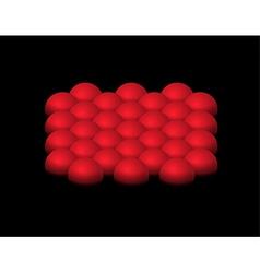 red half-spheres vector image