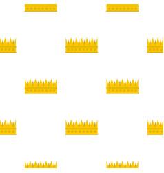 Regal crown pattern flat vector