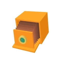 Retro camera icon cartoon style vector image