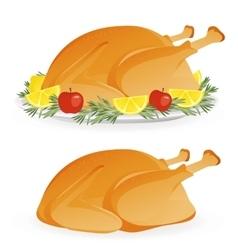 Roasted holiday turkey vector