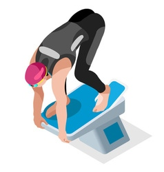 Swimming 2016 Sports 3D Isometric vector image