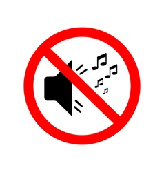 You can not make noise vector image vector image