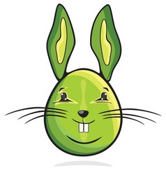 zeka jaje zeleni resize vector image