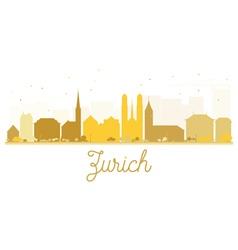 Zurich city skyline golden silhouette vector