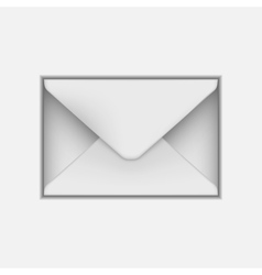 Blank paper envelope for your design vector image