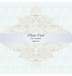Classic rococo ornament design card vector