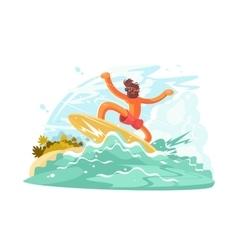 Surfer guy in sunglass vector