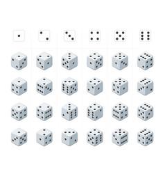 set of isometric dice vector image