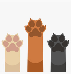 Paws up pets vector