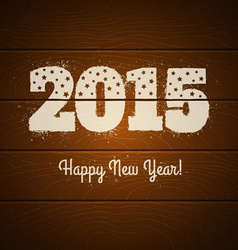2015 on wooden background vector