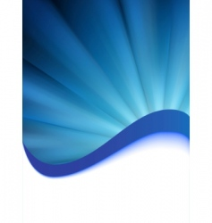 Blue burst card template vector