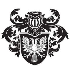 Heraldic silhouette no1 vector