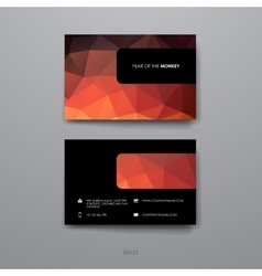 Set of design business card template in chinese vector