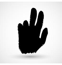Grunge hand icon vector