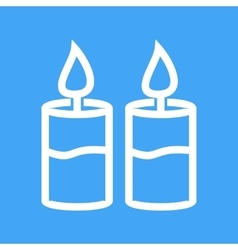 Two candles vector