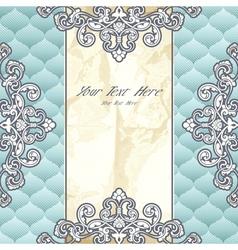 Pale blue vintage banner vector image