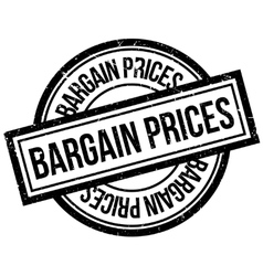 Bargain prices rubber stamp vector