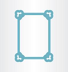 Border blue text frame vector