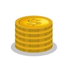 Cash money isolated icon vector