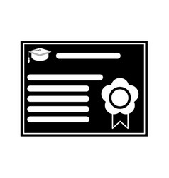 Certificate diploma school pictogram vector