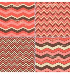 chevron patterns set vector image