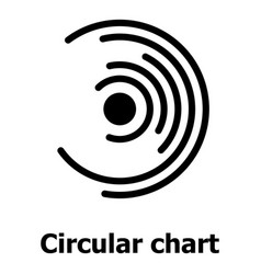 Circular chart icon simple style vector