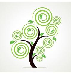 creative green tree vector image